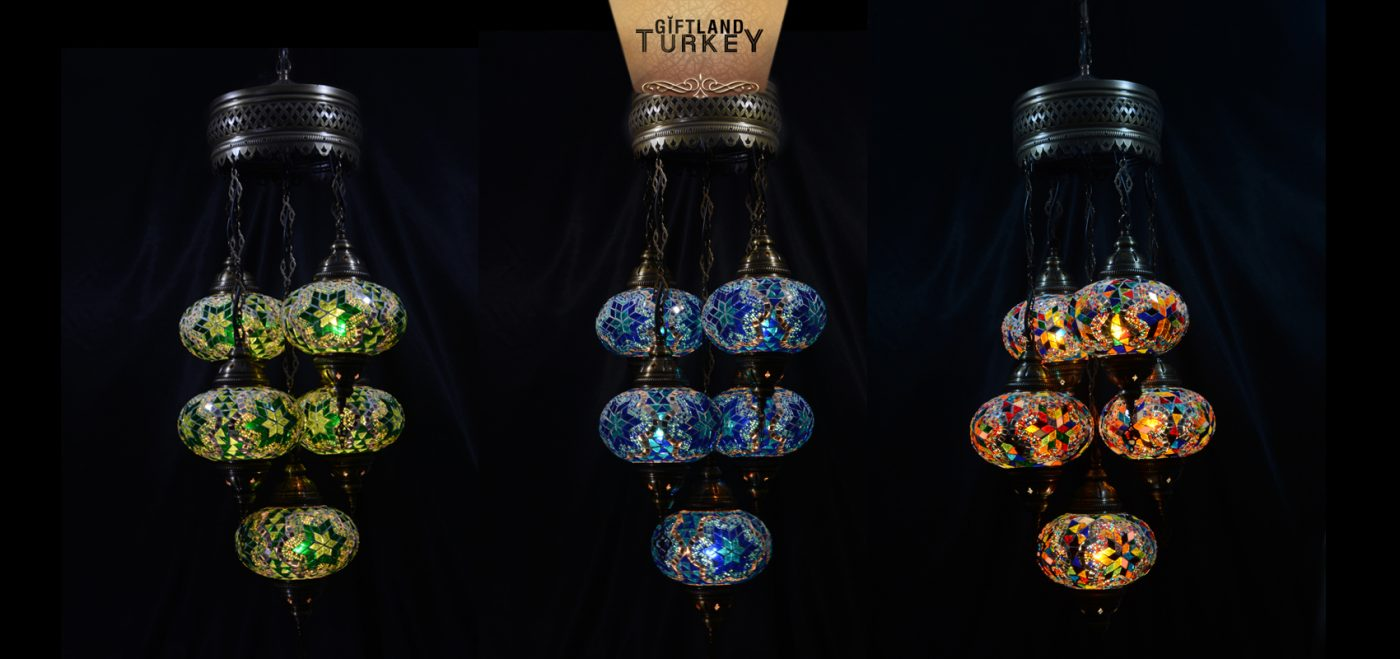 4+1 Sultan Mosaic Lamp Chandelier