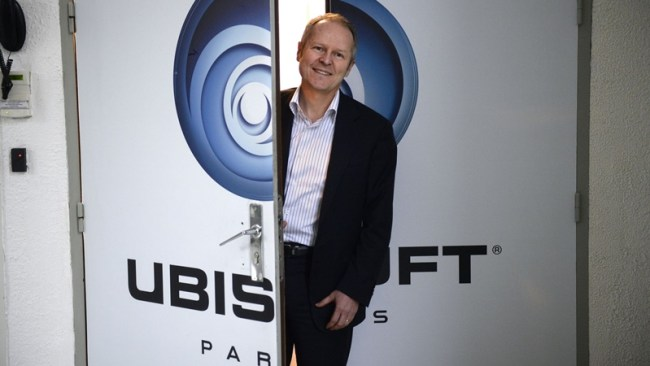 Ubisoft co-founder Yves Guillemot poses in the company studios on December 13, 2013 in Montreuil, outside Paris. AFP PHOTO MARTIN BUREAU