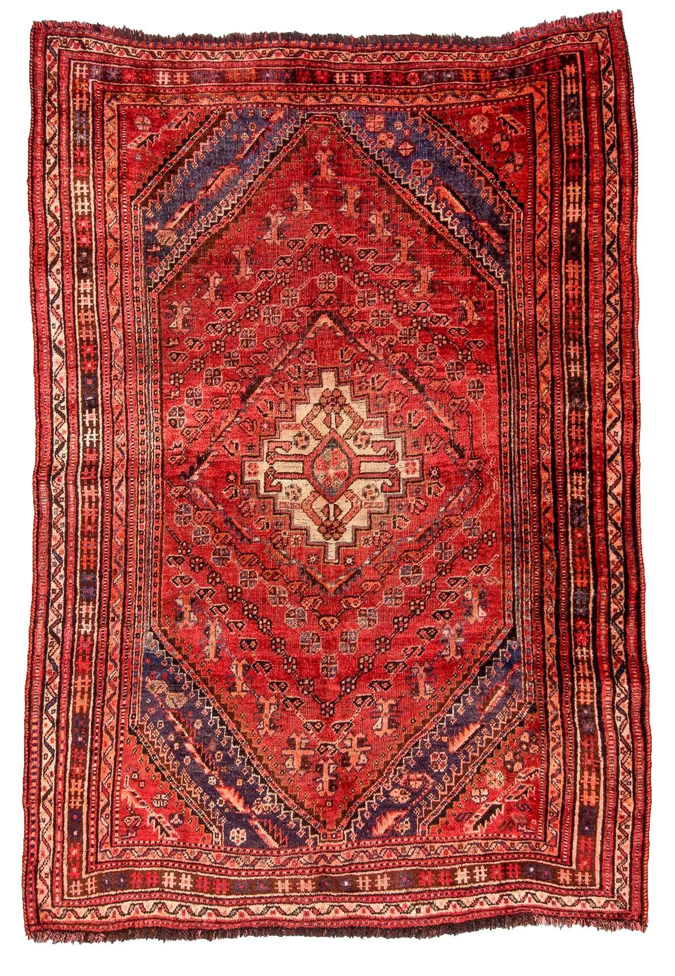 antique persian handwoven shiraz