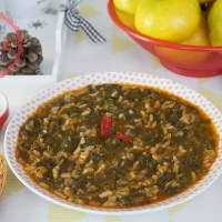 Spinach Stew With Rice Recipe
