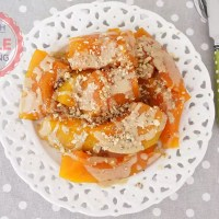Turkish Pumpkin Dessert With Tahini