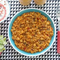 Chickpea Bulgur Pilaf Recipe