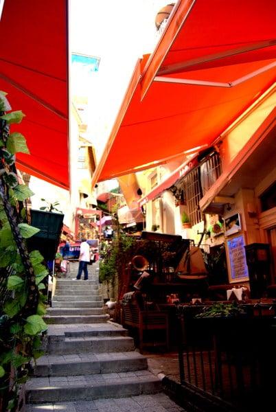 French Street in Istanbul Turkey  Cezayir Sokak  Turkish