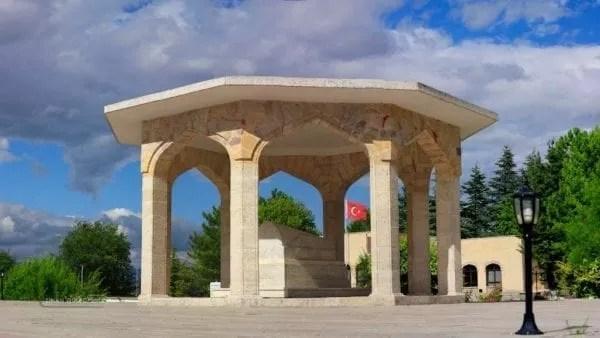 The death of Yunus  the poet's tomb in Eskişehir