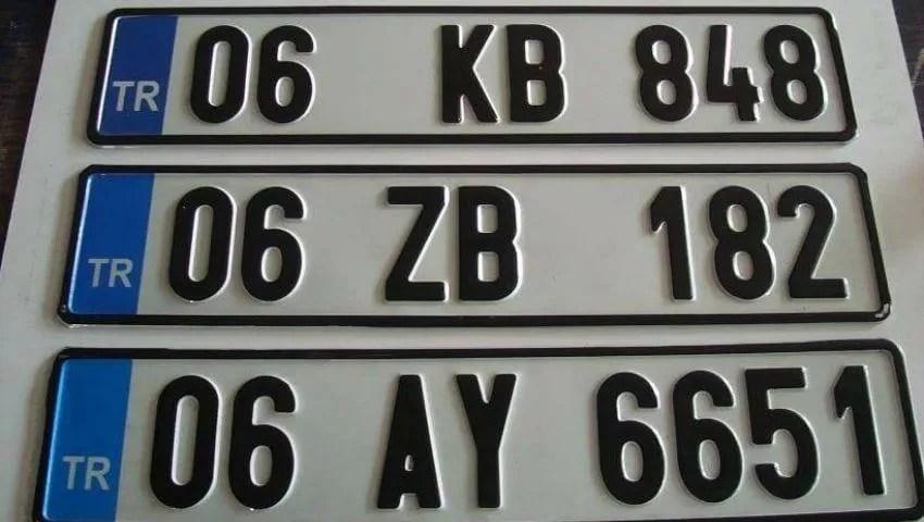 Turkey license plate Turkey car plates