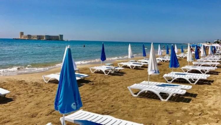 Blue Flag Beach Mersin Turkey