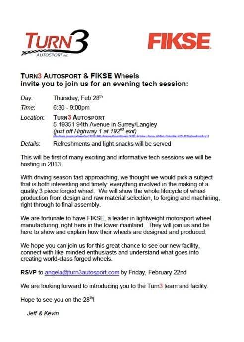 Turn3 - FIKSE Tech Event Feb 28, 2013