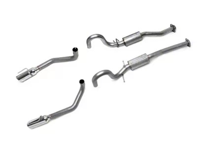 borla s type cat back exhaust with polished tips 99 04 gt mach 1