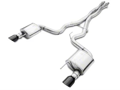 corsa xtreme cat back exhaust with black tips 15 17 gt