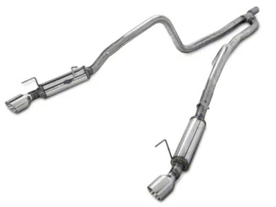 magnaflow competition series dual cat back exhaust with polished tips 2010 v6
