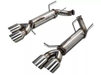 magnaflow competition series quad tip axle back exhaust with polished tips 11 12 v6