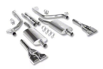 borla touring cat back exhaust with polished tips 09 14 5 7l hemi