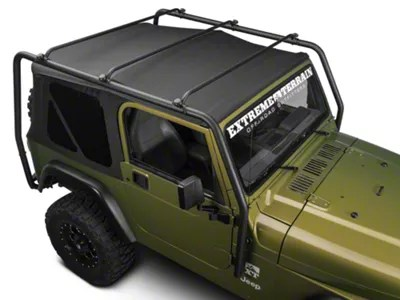 barricade roof rack textured black 97 06 jeep wrangler tj excluding unlimited