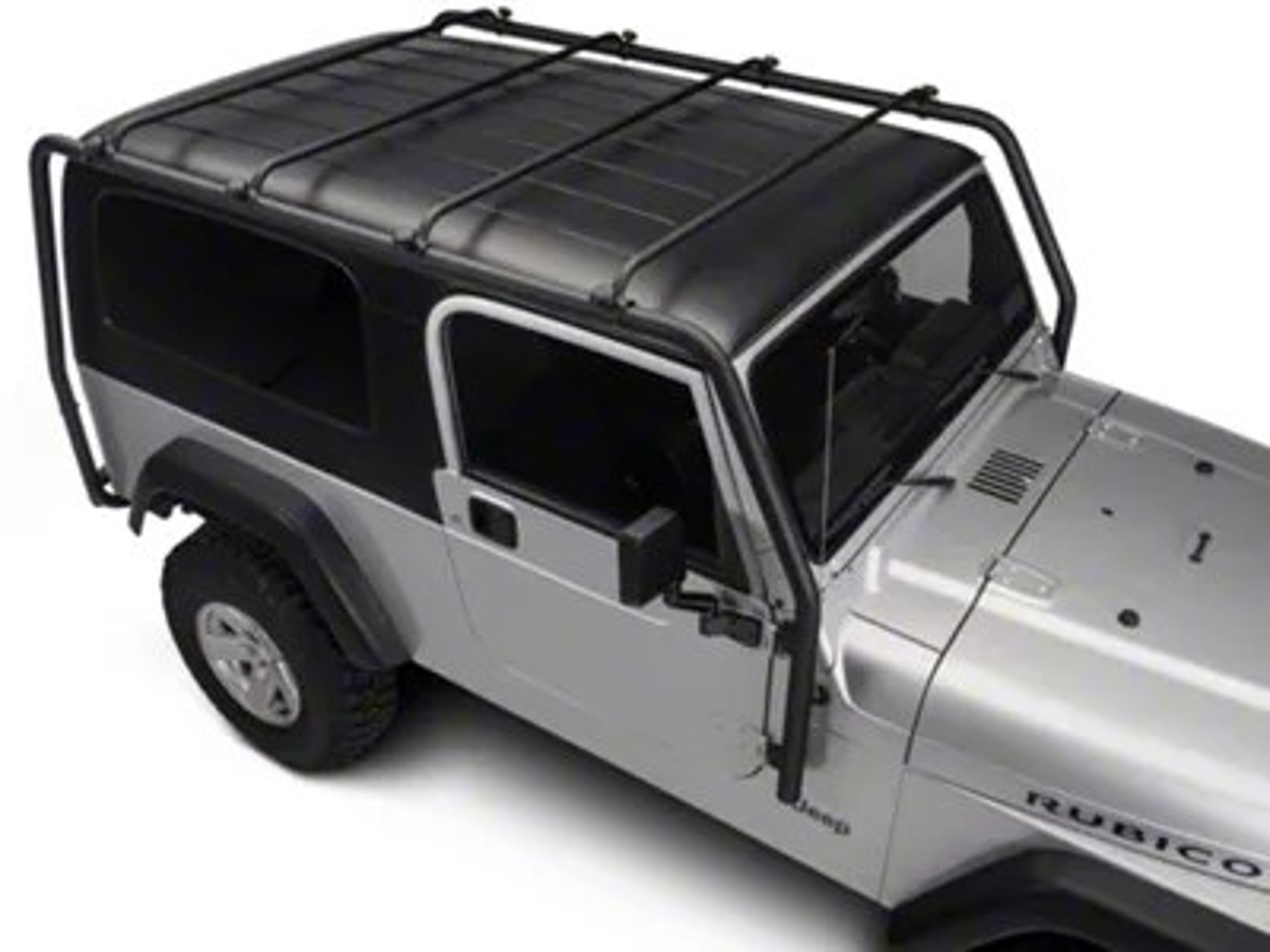 barricade roof rack textured black 04 06 jeep wrangler tj unlimited