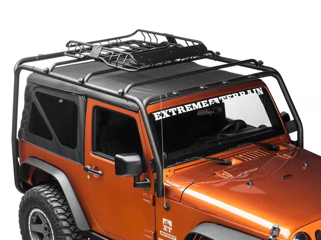 barricade x tray roof rack basket 87 21 jeep wrangler yj tj jk jl