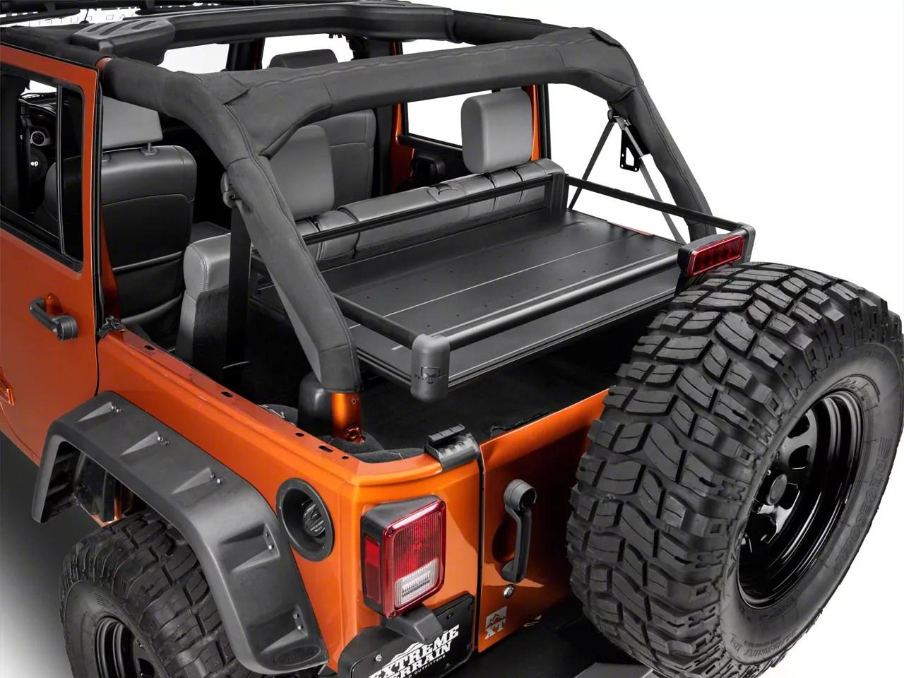 teraflex rear utility cargo rack black 07 18 jeep wrangler jk 4 door