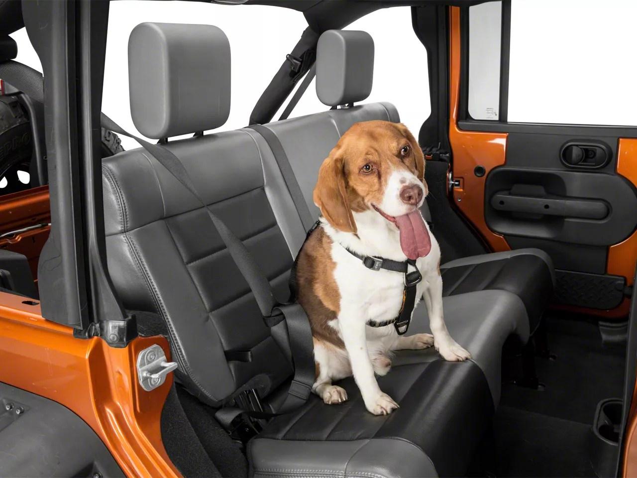 Kurgo Wrangler Impact Dog Seat Belt Harness Black