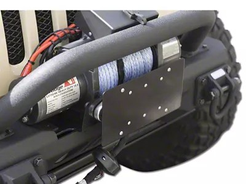 Rugged Ridge Jeep Wrangler License Plate Mounting Bracket