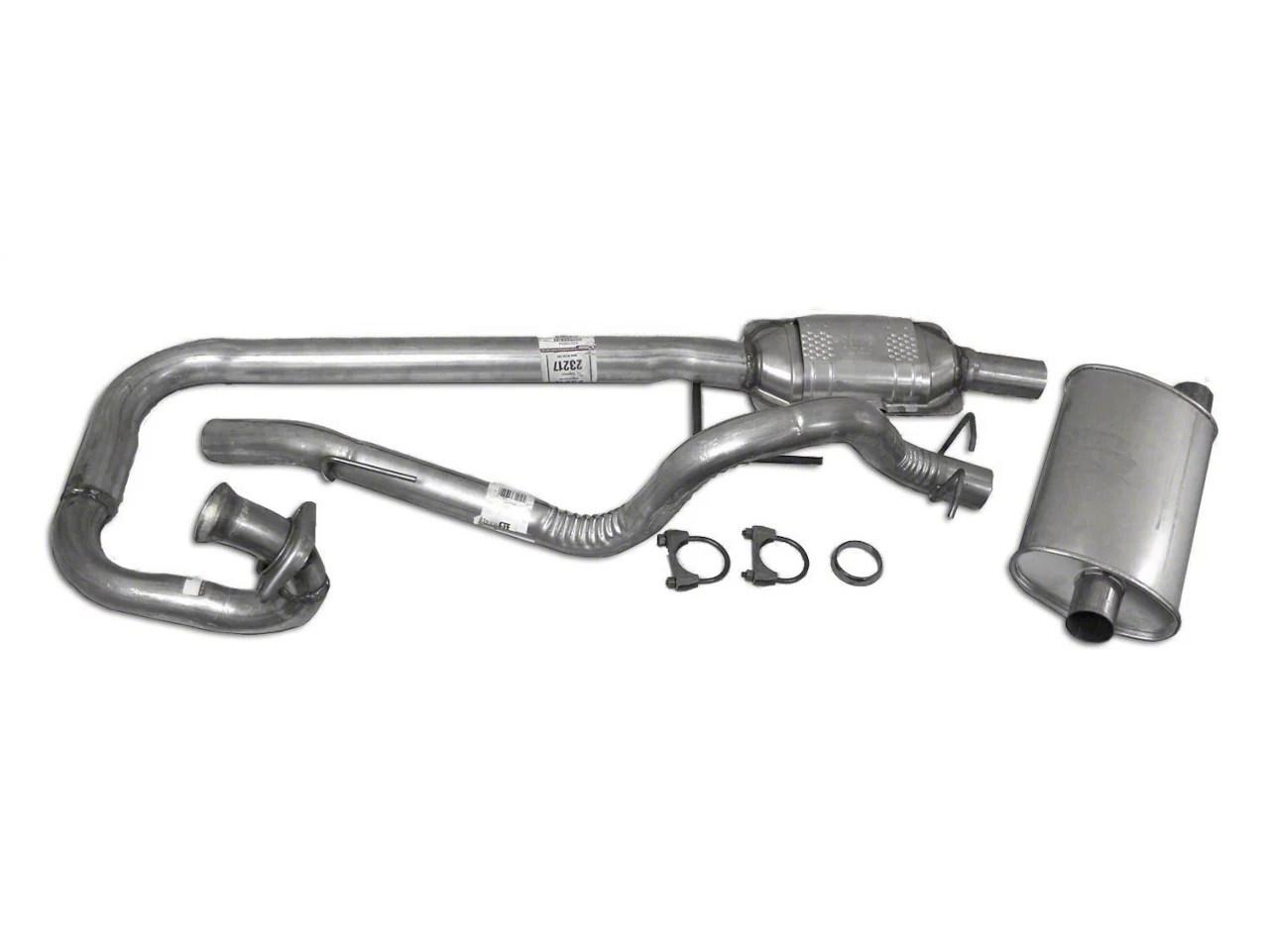 complete oem exhaust kit 97 99 4 0l jeep wrangler tj