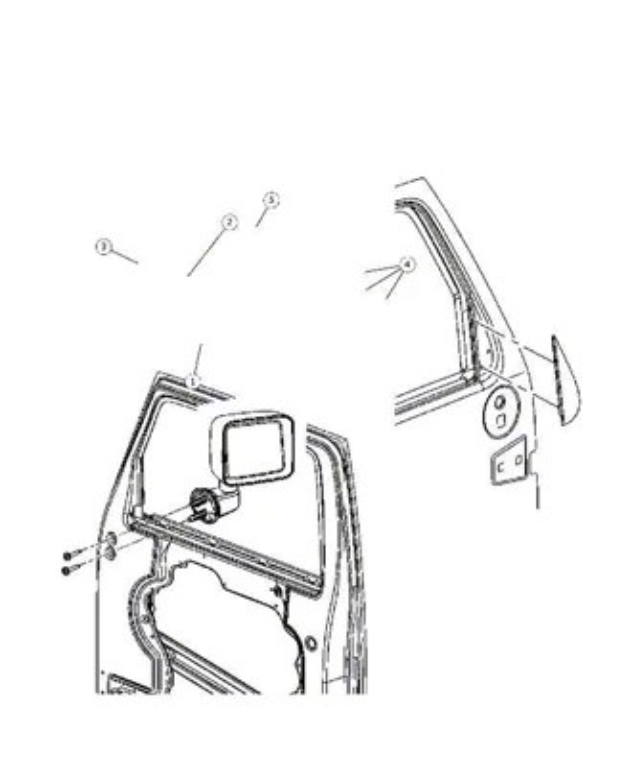 Mopar Jeep Wrangler Driver Side Power Replacement Mirror