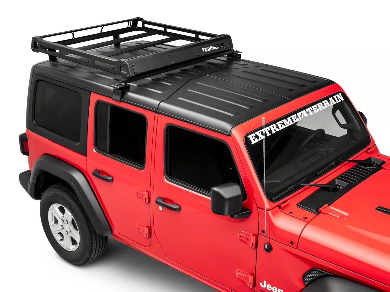barricade removable hard top roof basket for oem hard top 18 21 jeep wrangler jl 4 door