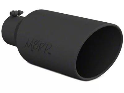 mbrp 7 inch black angled rolled end exhaust tip 4 inch connection universal fitment