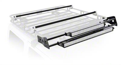smittybilt defender roof rack led light bar mount kit 4 foot