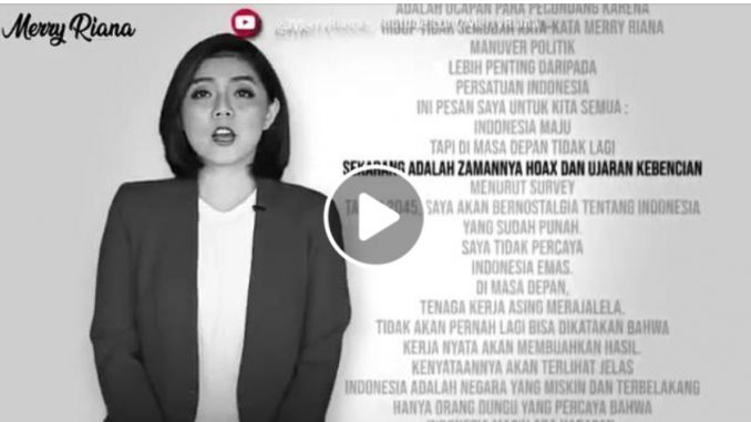 [SALAH] Video Merry Riana Sebut Indonesia Akan Bubar