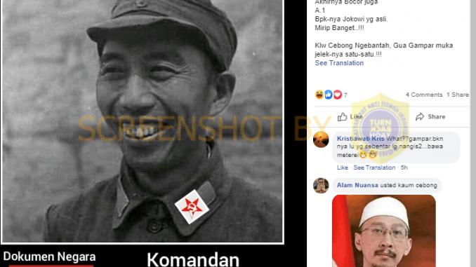 [SALAH] Akhirnya Bocor Juga Bapaknya Jokowi Yang Asli