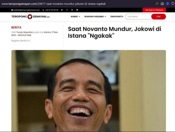 [SALAH] Foto Jokowi Memegang Kartu Kabur Saat Demo