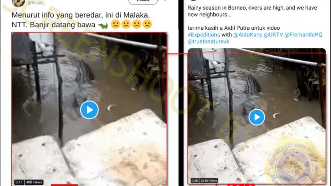 """[SALAH] """"di Malaka, NTT Banjir datang bawa 🐊"""""""