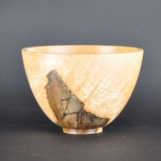 Small ash wood bowl