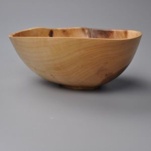 green turned bowl