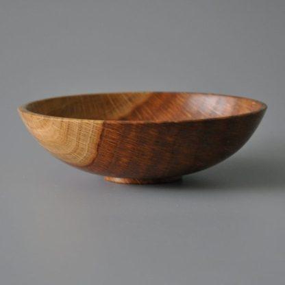 small bowl in brown oak