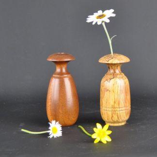 Wooden bud vases