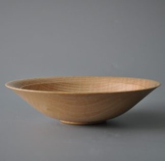bowl in rippled ash
