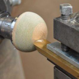 hemisphere cut with homemade ball cutting jig