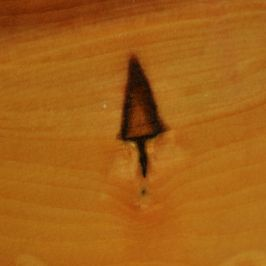 marking common in apple wood