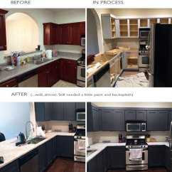 Kitchen Facelift Remodeling A Small Turner Blair Services Complete The Transformation Decisions Were Still Being Made On Wall Paint And Ceramic Tile Backsplash When After Picture Was Taken Below