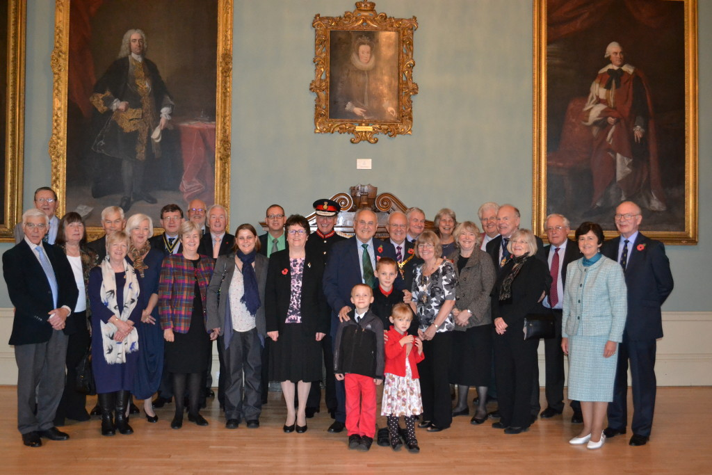 Ray with the Lord Lieutenant of Worcester, the Mayor and Lady Mayoress, and members of the Company, friends and family