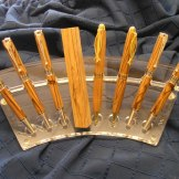 Ron Caddy Selection of Olive wood Pens_JPG