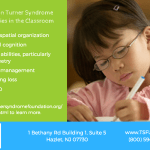 educator and girl with turner syndrome