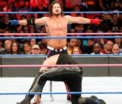 AJ Styles RAW backstage