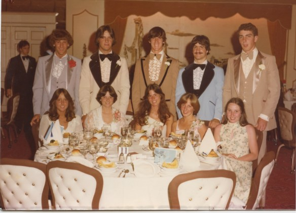 The table shot from my Senior Prom - that's me in the middle