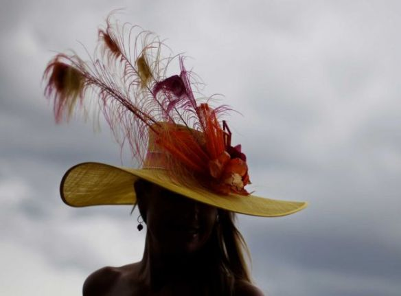 Rene Dailey, Wilmington NC at the 2013 Kentucky Derby  Photo Credit, David Goldman - AP Photos