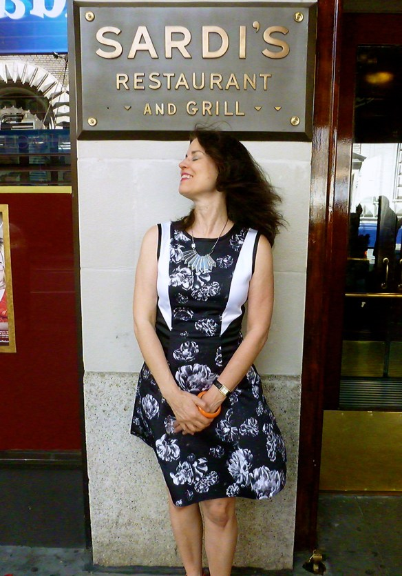 At Sardi's - wearing my Prabal Gurung for Target dress