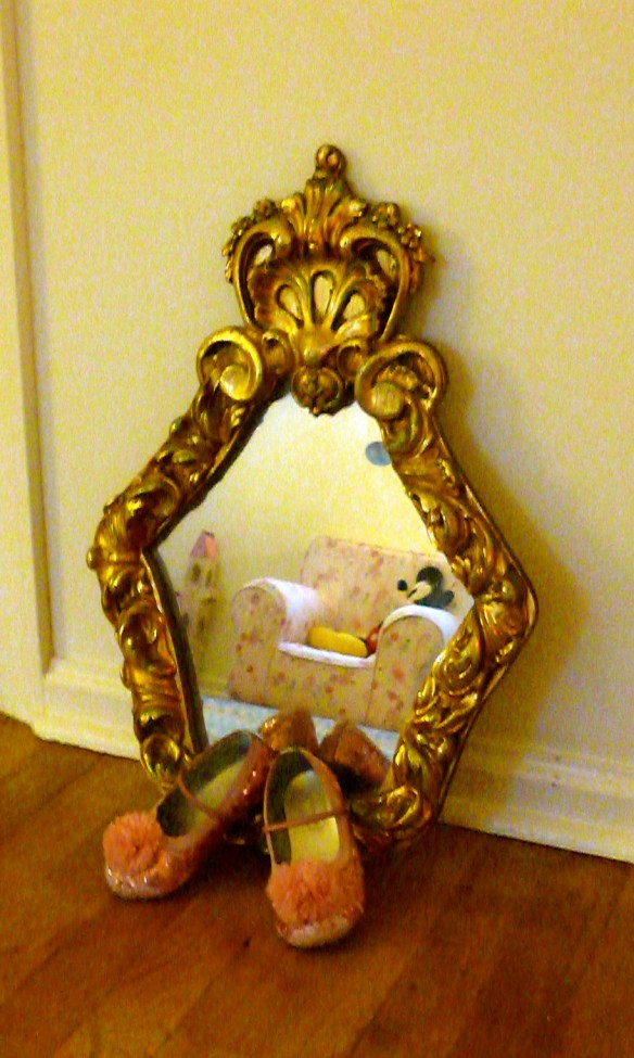 Princess Ella's magic slippers and magic mirror