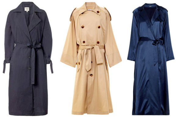 Trench coats: courtesy of The New York Times