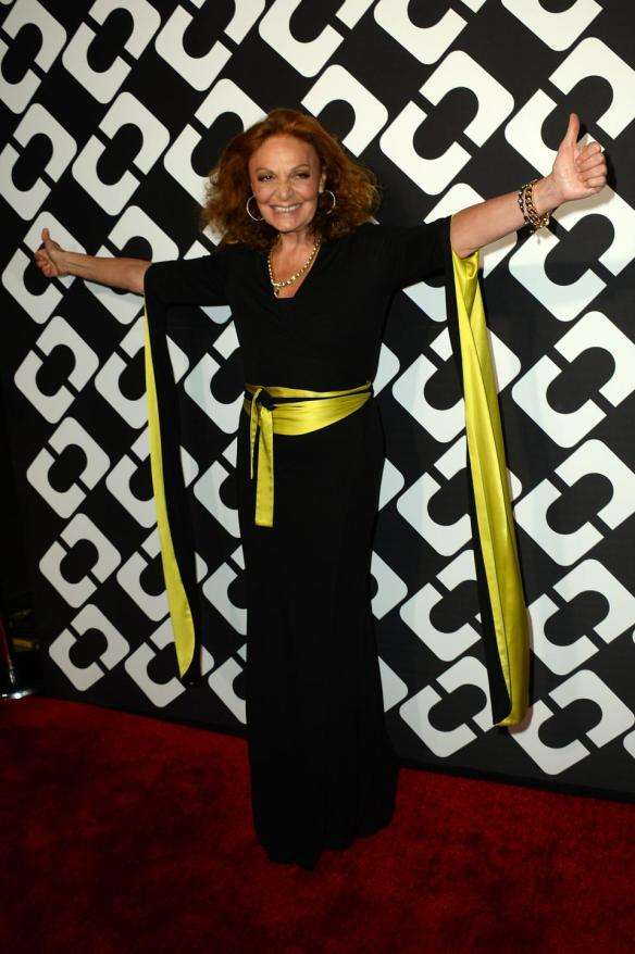 Diane von Furstenberg attends the DVF 40th Anniversary  'Journey of a Dress'