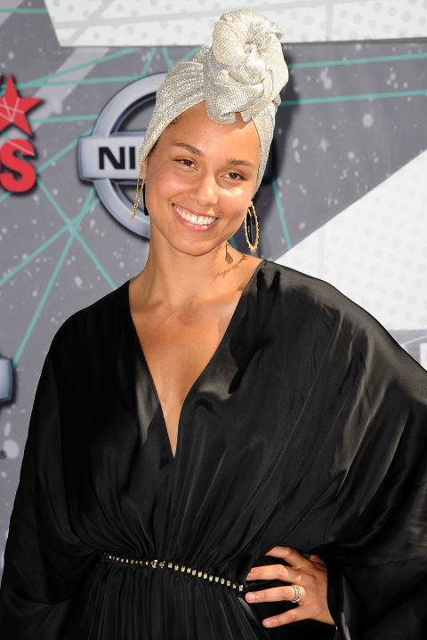 Alicia Keys at the BET Awards - Getty Images